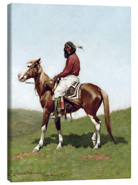 Canvas  Comanche Brave, Fort Reno, Indian Territory, 1888 - Frederic Remington