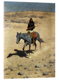 Acrylic glass  Apache Indian - Frederic Remington