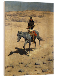 Wood print  Apache Indian - Frederic Remington