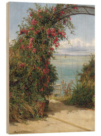 Wood print  A Garden by the Sea - Frank Topham