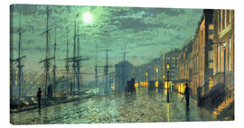 Canvas print  City Docks by Moonlight - John Atkinson Grimshaw