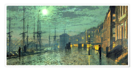 Premium poster  City Docks by Moonlight - John Atkinson Grimshaw