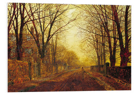 Foam board print  Night in Gold, 1872 - John Atkinson Grimshaw