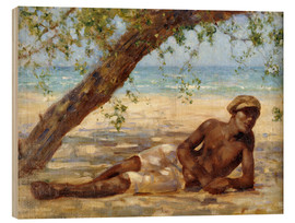 Wood  Samuel under a Tree - Henry Scott Tuke