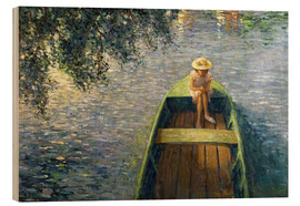 Wood  The Boat on the Marne - Henri Lebasque