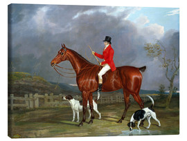 Canvas print  A Huntsman and Hounds, 1824 - David of York Dalby