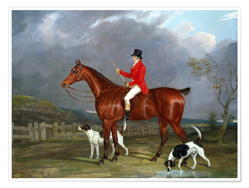 Premium poster A Huntsman and Hounds, 1824