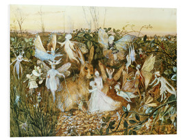 Foam board print  Fairies in the dusk - John Anster Fitzgerald