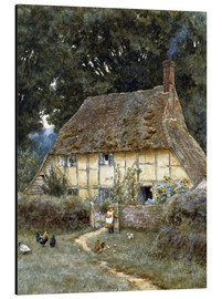 Aluminium print  On the Brook Road, near Witley - Helen Allingham