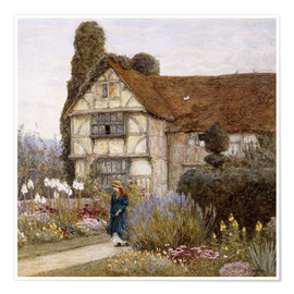 Premium poster  Old Manor House - Helen Allingham