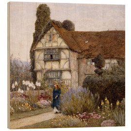 Wood print  Old Manor House - Helen Allingham