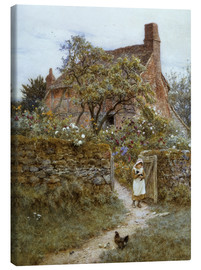 Canvas  The Black Kitten - Helen Allingham