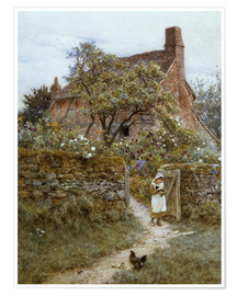 Premium poster  The Black Kitten - Helen Allingham