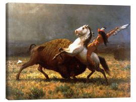 Canvas  The Last of the Buffalos - Albert Bierstadt