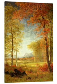 Acrylic print  Autumn in Oneida County, New York - Albert Bierstadt