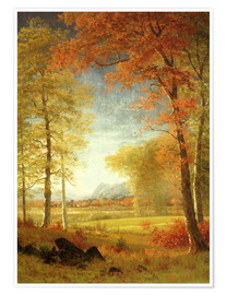 Premium poster  Autumn in Oneida County, New York - Albert Bierstadt