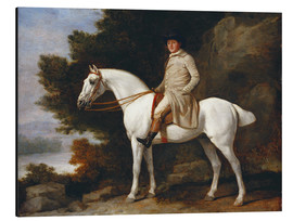 Aluminium print  Gentleman on a Grey Horse - George Stubbs