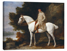 Canvas print  Gentleman on a Grey Horse - George Stubbs