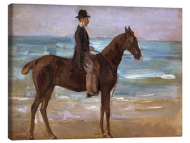 Canvas print  A Rider on the Shore - Max Liebermann