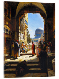 Acrylic print  At the Entrance to the Temple Mount, Jerusalem - Gustave Bauernfeind