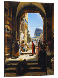 Aluminium print  At the Entrance to the Temple Mount, Jerusalem - Gustave Bauernfeind