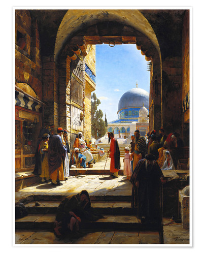 Premium poster At the Entrance to the Temple Mount, Jerusalem