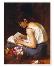 Premium poster A girl is reading