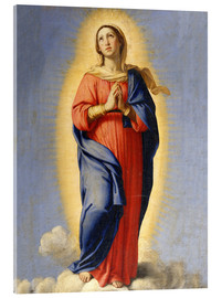 Acrylic print  The Immaculate Conception - Il Sassoferrato