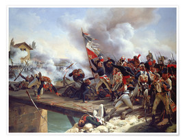 Premium poster The Battle of Pont d'Arcole, 1826