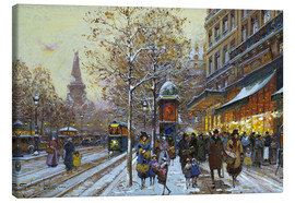 Canvas print  Place de la Republique, Paris - Eugene Galien-Laloue