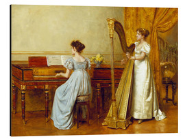 Aluminium print  The music room - George Goodwin Kilburne
