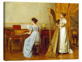 Canvas print  The music room - George Goodwin Kilburne