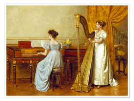 Premium poster  The music room - George Goodwin Kilburne
