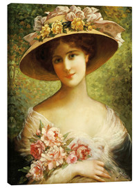 Canvas print  The Fancy Bonnet - Emile Vernon
