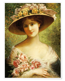 Premium poster  The Fancy Bonnet - Emile Vernon