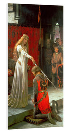 Foam board print  The Accolade - Edmund Blair Leighton