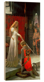 Wood print  The Accolade - Edmund Blair Leighton