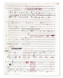 Premium poster Page of musical manuscript by Claude Debussy