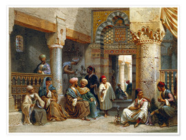 Premium poster  Arabic Figures in a Coffee House - Carl Friedrich Heinrich Werner