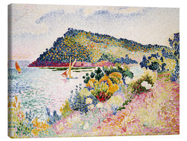 Canvas  The Black Cape, Pramousquier Bay - Henri Edmond Cross
