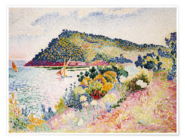 Premium poster  The Black Cape, Pramousquier Bay - Henri Edmond Cross