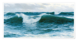 Premium poster Breaking waves, 1892