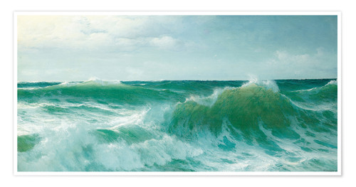 Premium poster A breaking wave, 1894