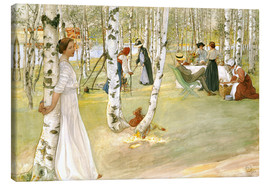 Canvas print  Breakfast in the Open - Carl Larsson