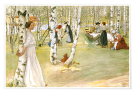 Premium poster  Breakfast in the Open - Carl Larsson