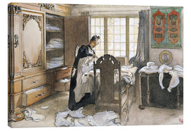 Canvas print  Karin by the Linen Cupboard, 1906 - Carl Larsson