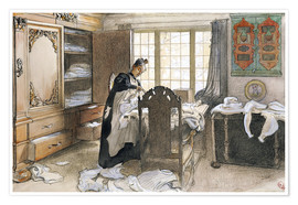 Premium poster Karin by the Linen Cupboard, 1906