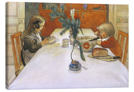 Canvas print  The Evening Meal, 1905 - Carl Larsson