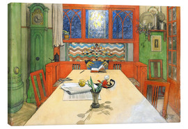Canvas print  Day is Done, Good Night! - Carl Larsson