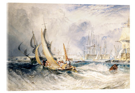 Acrylic print  Gosport: The Entrance to Portsmouth Harbour - Joseph Mallord William Turner
